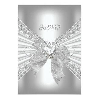 UAWG elegantes Ereignis-Goldsilber-Weiß 8,9 X 12,7 Cm Einladungskarte
