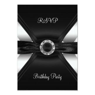 UAWG Geburtstags-Diamant-Juwel-Schwarz-weißes Karte