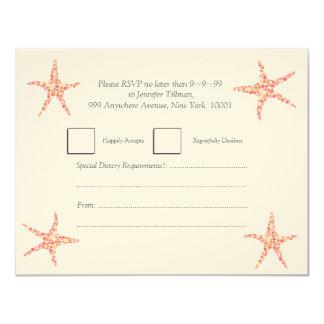 UAWG Geißblatt-Pfirsichstarfish-Strand laden ein 10,8 X 14 Cm Einladungskarte