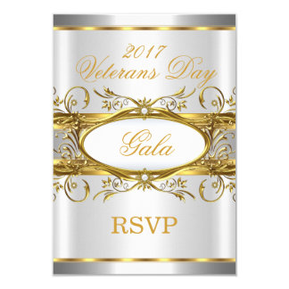 UAWG Goldsilber-Weiß und Goldplaketten-Party Karte