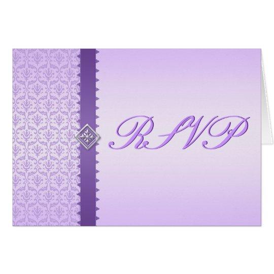 UAWG Karte in der Vintagen Flieder und im lila