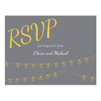 UAWG Postkarte für wedding in Gelbem und im Grau
