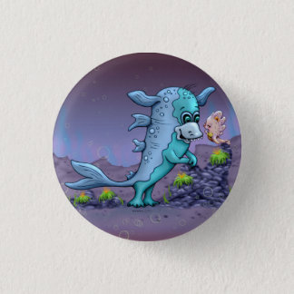UBA ALIEN-MONSTER-CARTOON runder Knopf klein Runder Button 3,2 Cm