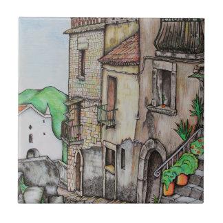 Über Costarella und Kloster Fliese