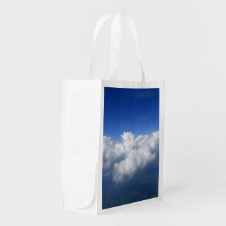 über den Wolken 03 Wiederverwendbare Einkaufstasche