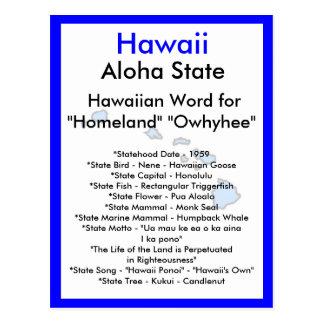 Über Hawaii Postkarte