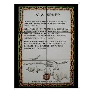 über Krupp Keramikfliese Capri - Italien Postkarte