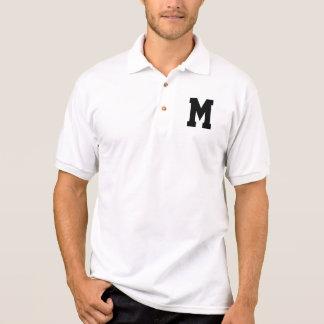 Über sortiertem schwarzem SS-Monogramm Polo Shirt