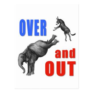 ÜBER UND HERAUS politische Illustration Postkarten