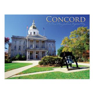 Übereinstimmungs-New Hampshire Postkarte