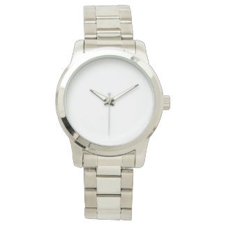 Übergroße silberne Unisexuhr Armbanduhr