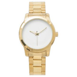 Übergroße Unisexgoldarmband-Uhr Armbanduhr