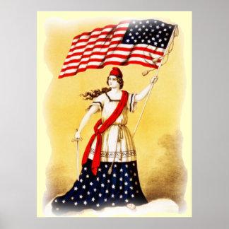 """""""Überhaupt aufmerksames"""" Vintages patriotisches Poster"""