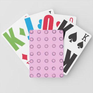 Überlagerte rosa und lila Polka-Punkt-Spielkarten Bicycle Spielkarten
