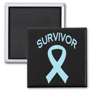 Überlebend-blauer Prostatakrebs-Bandquadratmagnet Quadratischer Magnet