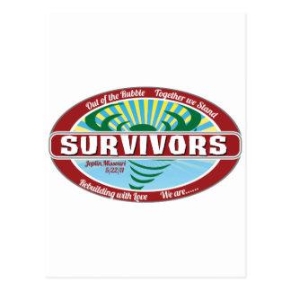 Überlebende Postkarte