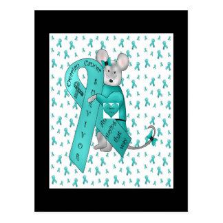 Überlebender Eierstockkrebses Postkarte