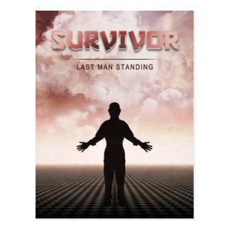 Überlebender Postkarte