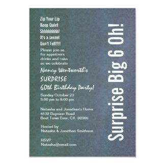 ÜBERRASCHEN Sie 60. Geburtstags-Party-Vintages 12,7 X 17,8 Cm Einladungskarte