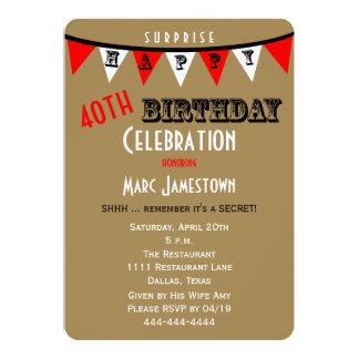 Überraschen Sie das 40. Geburtstags-Party 12,7 X 17,8 Cm Einladungskarte