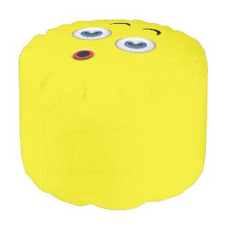 Überraschtes Emoji Hocker