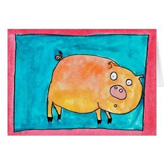 Überraschtes Schwein • Nick Abrams, Alter 13 Karte