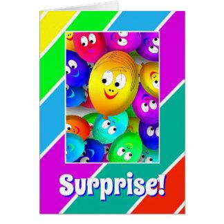Überraschungs-Geburtstags-Karte Grußkarte