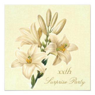 Überraschungs-Geburtstags-Partychic-Vintage Quadratische 13,3 Cm Einladungskarte