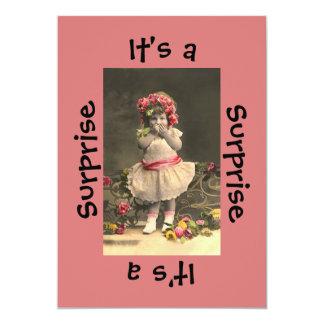 Überraschungs-Party-Mädchen 12,7 X 17,8 Cm Einladungskarte