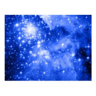Überseeische blaue Sterne Postkarte