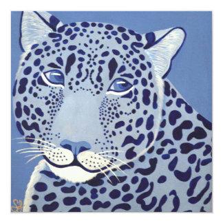 Überseeische Jaguar-Einladungen Quadratische 13,3 Cm Einladungskarte