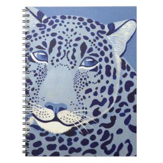Überseeisches Jaguar-Notizbuch Spiral Notizblock