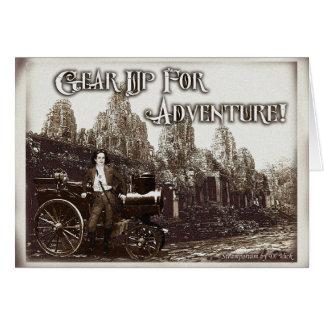 Übersetzen Sie oben für Abenteuer-Gruß-Karte Karte