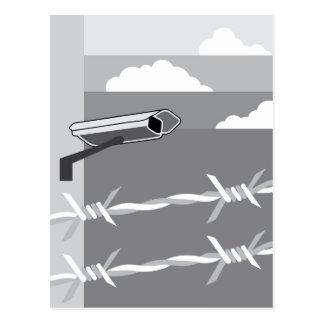 Überwachungskamera. Sichern Sie Anlage Postkarten