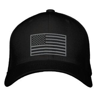 Überwundener Farbe-US-Flagge gestickter Hut