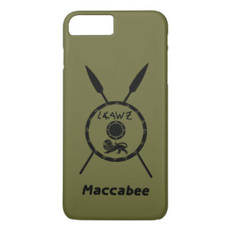 Überwundenes Maccabee Schild und Stangen iPhone 8 Plus/7 Plus Hülle