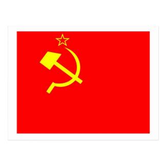 UDSSR-Flagge Postkarte