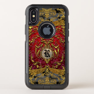 Ufaycicle barocker Damast-personalisiertes OtterBox Commuter iPhone X Hülle