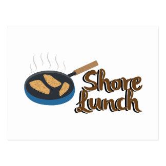 Ufer-Mittagessen Postkarte