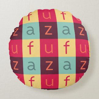 Uffizi KUNST Logo-rundes Baumwollkissen Rundes Kissen