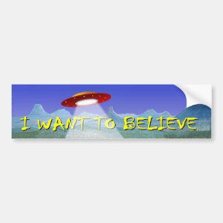 UFO-AußerirdischeSaucerabziehbild, das ich will, Autoaufkleber