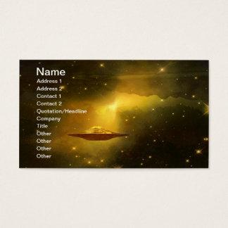 UFO-Flugobjekt im Raum Visitenkarte