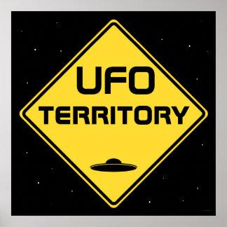 UFO-Gebiet Verkehrsschild Poster