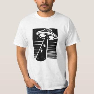 UFO - Holzschnitt T-Shirt