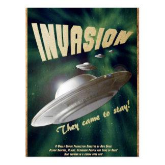 UFO-Invasion - Vintages Film-Plakat Postkarte