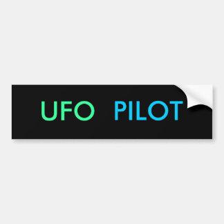 UFO-VERSUCHSAutoaufkleber Autoaufkleber