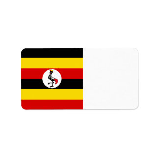 Uganda-Flagge Adressaufkleber