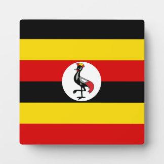 Uganda-Flagge Fotoplatten