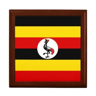 Uganda-Flagge Große Quadratische Schatulle