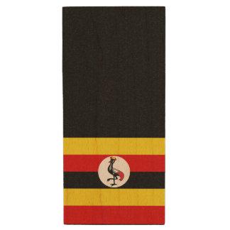 Uganda-Flagge Holz USB Stick 3.0